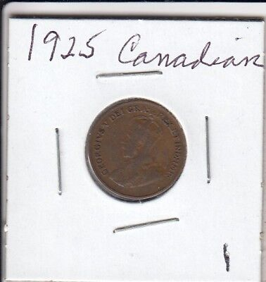 1925 Canadian Small cent