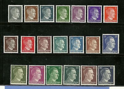 Adolph Hitler / Third Reich / Nazi Germany / 20 MNH stamps / FREE HOLDER!  WWII