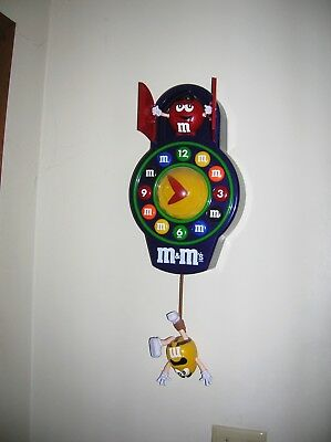 M&M's Animated Wall Clock Complete - No Box