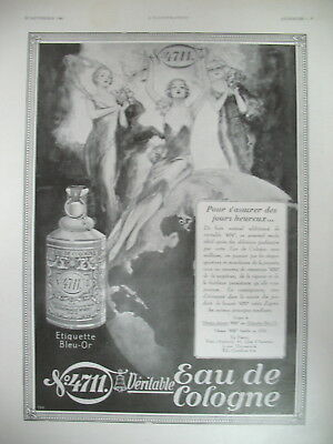 Publicite De Presse 4711 Eau De Cologne Illustration Lutz Ehrenberger Ad 1930