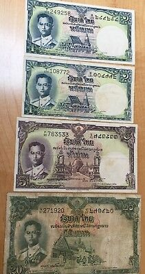 4. THAILAND   Banknotes  Bank Paper Money