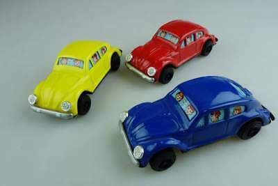 Y Yone 3x Volkswagen VW Beetle Käfer Blech Japan litho tin toy 105950