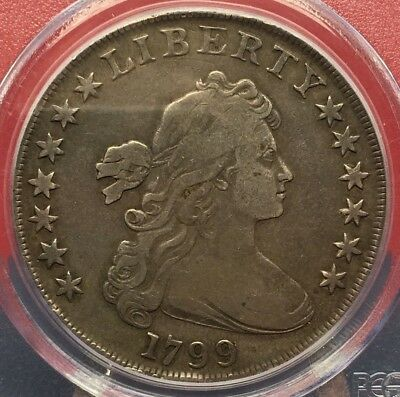 1799 Draped Bust Silver Dollar Pcgs Vf 20 Cleaned Bin Free Shipping