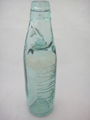 Vintage Codd Neck Bottle W Glass Marble Antique East