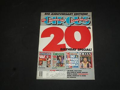 1989 Oct 31 Circus Magazine - 20Th Birthday Special Cover - Photos - Sp 7626
