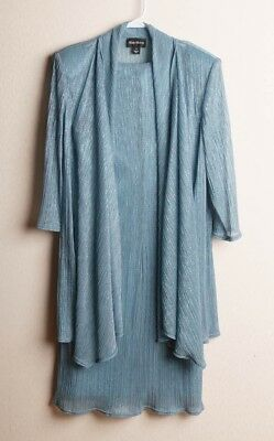 Mother of the bride Shimmery Blue Dress with Jacket  12