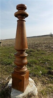 Newell Post Porch Column Wood Architectural Salvage Repurpose Railing Vintage a