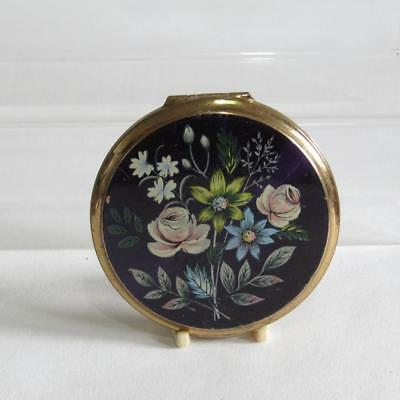 Vintage Powder Compact by Stratton - Floral Design