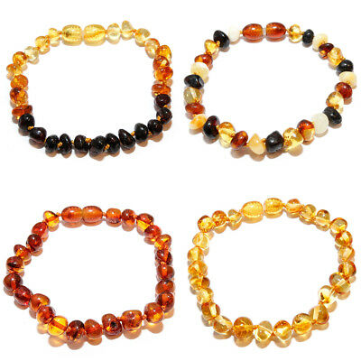Baltic Amber Bracelet for Adult Baby Kid with Screw Clasp Genuine Amber Bracelet
