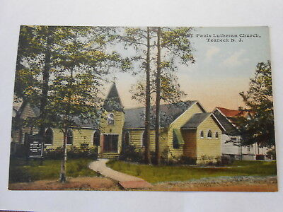 Old Postcard. TEANECK, NEW JERSEY, PAULS LUTHERAN CHURCH