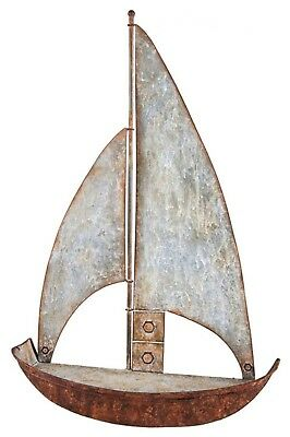 "Metal Sailboat Wall Shelf Nautical Cabin Home Decor 23"" H NEW FFFUV02854"