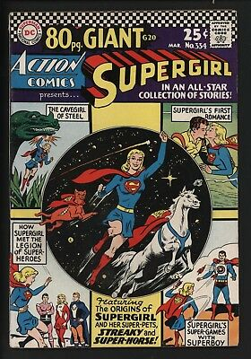 ACTION COMICS #334 SCARCE 80PG GIANT REPRINTS 1st SUPERGIRL FROM ACTION #252