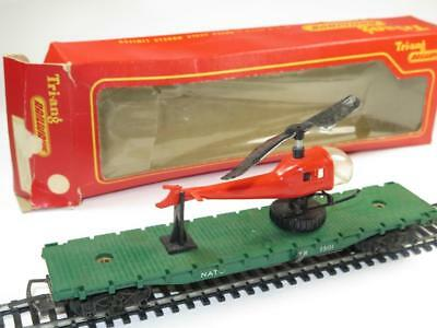 VINTAGE TRI-ANG RAILWAYS HO/OO R.128 Operating Helicopter Car Boxed 1967 SPARES