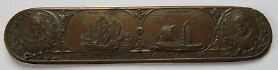 1909 Hudson Fulton Celebration Bookmark, Reed & Barton NY, Scarce  (161733R)
