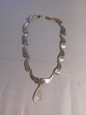 Vintage Sterling Silver Mid Century Modern Mexico Hallmaked Necklace
