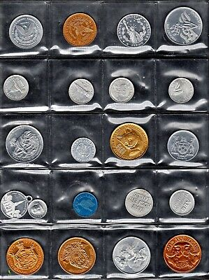 Page Of Twenty-One Different Tokens, U.s. & Some Foreign - All Aluminum