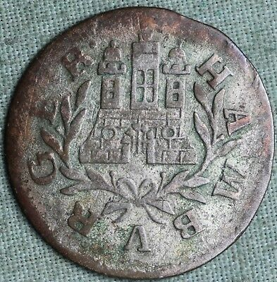 1763 Hamburg Silver Shilling~ Combined S.& H.