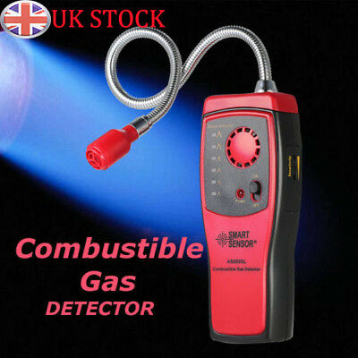 Combustible Gas Detector Methane natural Gas Leak Analyzer Tester Alarm UK