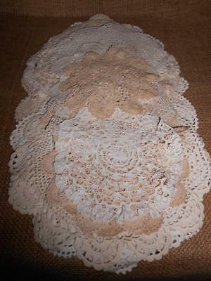 x 19 Bulk Lot Assorted Vintage Crocheted Doyleys /Doilies