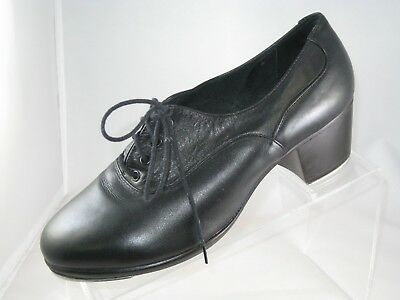 Capezio Gold Series CG07 Women Shoes Black Made in Brazil Leather Size 8-1/2 M