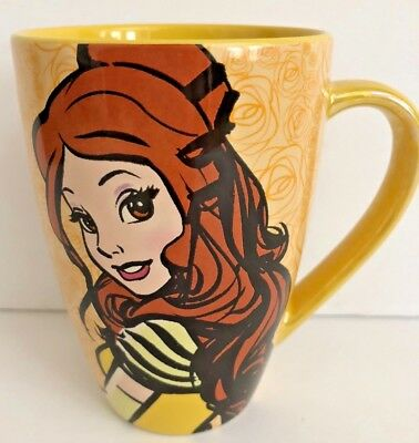 disney parks beauty and the beast yellow belle coffee mug cup 16oz