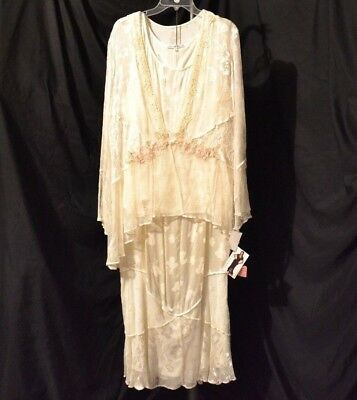 Spencer Alexis Formal Occasion Wedding 3pc sz 2x Bone Jacket Skirt Outfit #26