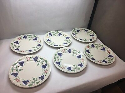 VINTAGE Henry FORD Greenfield VILLAGE CHINA Iroquois SET OF 6 Dinner PLATES