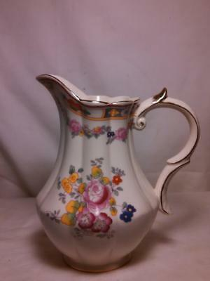 Vintage Peppertree Tabletops Porcelain Floral Gold Pink Yellow Gold Pitcher