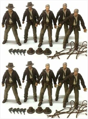 10x INDIANA JONES 2007 RAIDERS OF LOST ARK 3.75'' Figure hasbro toys & accessory
