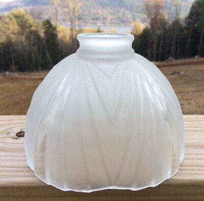 Antique Vintage Frosted Art Deco Glass Lamp Light Shade