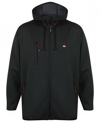 Mens Lee Cooper Knitted Fleece Warm Lined Hooded Work Coat Jacket Sizes S to 2XL