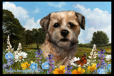 Indoor/Outdoor Summer Floor Mat - Border Terrier (TB) 39122