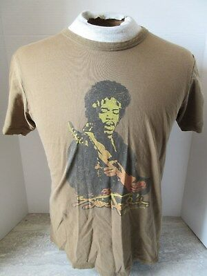 2007 Jimi Hendrix Admit One Brown T-Shirt Size Small