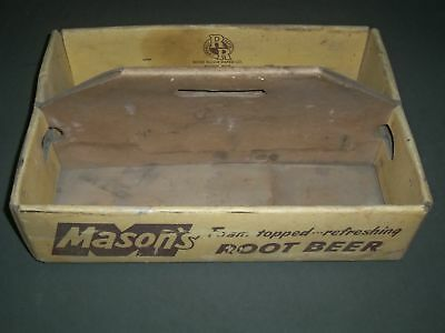 Mason's Root Beer By River Raisin Paper Co. Cardboard Carrying Case - Michigan