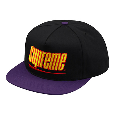 14f25936674 NEW SUPREME MESH Box Logo New Era Orange Hat Fitted Baseball World ...