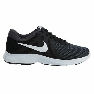 info for 89a73 4b597 Nike Revolution 4 Womens 908999-001 Black White Grey Mesh Running Shoes Size  10