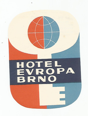HOTEL EUROPA luggage label (BRNO)