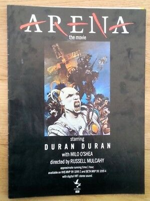 DURAN DURAN Arena magazine ADVERT/Poster/Clipping 11x8 inches