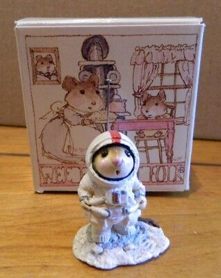 Wee Forest Folk WFF M-78 Moon Mouse Figurine in Box LOOK