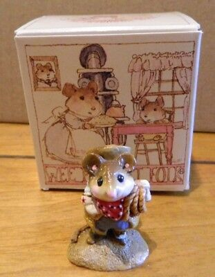 Wee Forest Folk WFF M-169 Rope Em Mousey Cowboy Figurine in Box LOOK