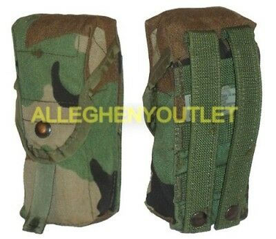 DOUBLE MAG POUCH Molle 2 Magazine Pouch WOODLAND CAMO US Military VGC
