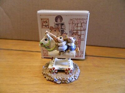 Wee Forest Folk WFF M-65 Mousey Express Figurine in Box LOOK