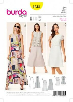 Burda Girls Easy Sewing Pattern 9379 Simple Dresses /& B... Free UK P/&P