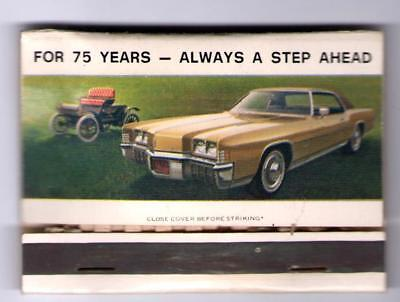 1897 1972 Oldsmobile's Anniversary Matchbook Peterson Olds Pontiac Boone Iowa