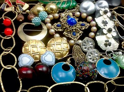 Large Lot Of Vintage/retro Costume Jewelry Lydell Nyc, Napier, Lisner...  (E26)