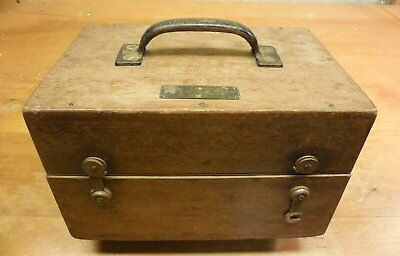 old wood, fitted case / box for Gurley Standard Weights & Measures. Box only