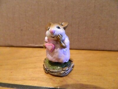 Wee Forest Folk WFF M-80 Girl Sweetheart Valentine's Day Mouse Figurine