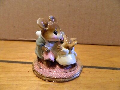Wee Forest Folk WFF M-149 Don't Cry Violin Player Mouse Figurine