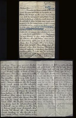 1907 SYRIAN MISSIONARY LETTER Elizabeth Murray Oliver at Beyrout
