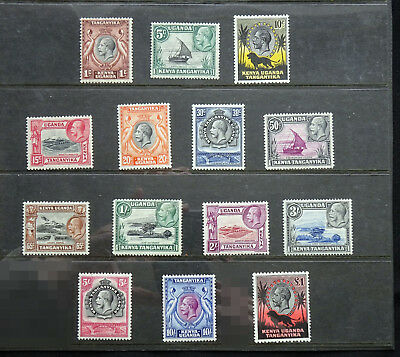 KUT 1935-37 SG110-123, KGV Complete Set to £1 Pound, Mint very lightly hinged!